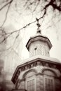 Church domes in trinity sergius lavra sergiev posad russia vintage style sepia photo unesco world heritage site Stock Images