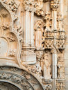 Church door carving details of the convento de cristo tomar Royalty Free Stock Photos