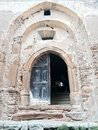 Church door entrance to copsa mare fortified Royalty Free Stock Images
