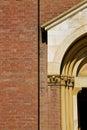 church door   in  gold  closed brick Royalty Free Stock Photo