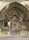 Church door image of taken of the house entrance gloucerster chathedral england Royalty Free Stock Photo