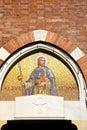 church door    italy saint   closed brick Royalty Free Stock Photo
