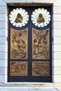 church door     lombardy  madonna Royalty Free Stock Photo