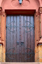 Church door small city saarburg rheinland pfalz germany Stock Photos