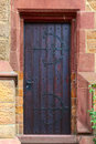 Church door a in small city saarburg rheinland pfalz germany Stock Image