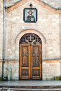Church doors. Royalty Free Stock Photo