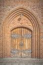 Church Doors in Helsingor Royalty Free Stock Photo
