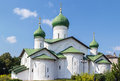 Church of the epiphany pskov russia on zapskovye was build in in Royalty Free Stock Image