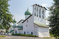 Church of the epiphany pskov on zapskovye was build in in russia Royalty Free Stock Image