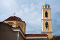 Church in Ermoupolis, Syros island (Greece) Royalty Free Stock Image