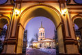 The church of the exaltation of the holy cross in altufevo winter russia moscow altufyevo Stock Image