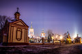 The church of the exaltation of the holy cross in altufevo winter russia moscow altufyevo Royalty Free Stock Photos