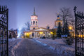 The church of the exaltation of the holy cross in altufevo winter russia moscow altufyevo Royalty Free Stock Photo