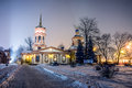 The church of the exaltation of the holy cross in altufevo winter russia moscow altufyevo Royalty Free Stock Photography