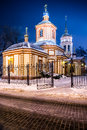 The church of the exaltation of the holy cross in altufevo winter russia moscow altufyevo Stock Photography