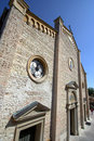 Church facade in Asolo Stock Image
