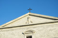 Church facade with blue sky. Siena, Tuscany, Italy Royalty Free Stock Photo
