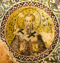 The church father Ignatius of Antioch with the Trump finger sign Royalty Free Stock Photo