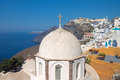 Church fira imerovigli back santorini island Stock Image