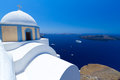 Church of Fira village at Santorini island Stock Images