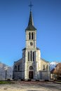 Church in French Alps, Sevrier Stock Image