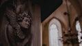 Church fretwork tallinn picture photo interior decoration catholic st olaf estonia Royalty Free Stock Photo