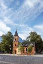 Church in garmisch partenkirchen germany the bavarian alps Royalty Free Stock Photography