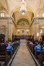Church goers attending mass at the cathedral of havana cuba july in cuba Stock Photography
