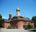 The church with gold domes orthodox its Stock Photography