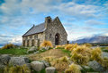 Church of the Good Shepherd built since 1935, Lake Tekapo, New Z Royalty Free Stock Photo