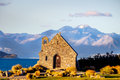 The Church of the Good Shepherd at Lake Tekapo in New Zealand Royalty Free Stock Photo