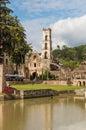 Church at Hacienda Santa Maria Regla, Hidalgo, Mexico. Royalty Free Stock Photo