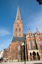 Church in hamburg st peters commonly known as peter main of Stock Image