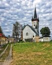 Church on the hill in Czech Republic Royalty Free Stock Photo