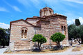 Church of the holy apostles th century a d athens greece Stock Image