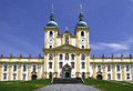 Church in holy hill olomouc front viev Royalty Free Stock Photos