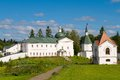 Church of the holy righteous james borovichskye and hospital kelijami and refectory valday iversky monastery in valdai russia Stock Photography