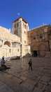 Church of the Holy Sepulchre Courtyard Royalty Free Stock Photo