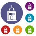 Church icons set