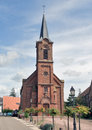Church im mittelbergheim located in a village of a region in france named alsace Stock Images