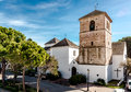 Church of the imaculate conception in mijas is a lovely andalusian town on costa del sol spain Royalty Free Stock Photo