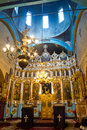 Church indoor altar and dome in christian Royalty Free Stock Images