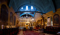 Church indoor altar and dome in christian Royalty Free Stock Photos