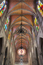 Church inside vaulted Royalty Free Stock Photos