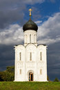 Church Intercession of Holy Virgin on Nerl River. Russia Royalty Free Stock Photo