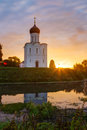 Church Intercession of Holy Virgin on the Nerl River. Russia Royalty Free Stock Photo