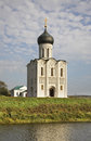 Church of the Intercession on the Nerl near  Bogolyubovo. Vladimir oblast. Russia Royalty Free Stock Photo