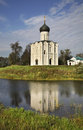 Church of the Intercession on the Nerl near  Bogolyubovo. Vladimir oblast. Russia Royalty Free Stock Photo