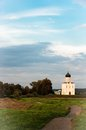 Church of intercession on the nerl summer sunset in russia Stock Photography