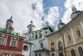 The Church of the intercession of the Pskov-caves monastery. Royalty Free Stock Photo